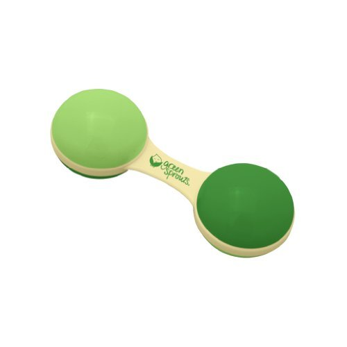 Green Sprouts Cornstarch Dumbbell Rattle