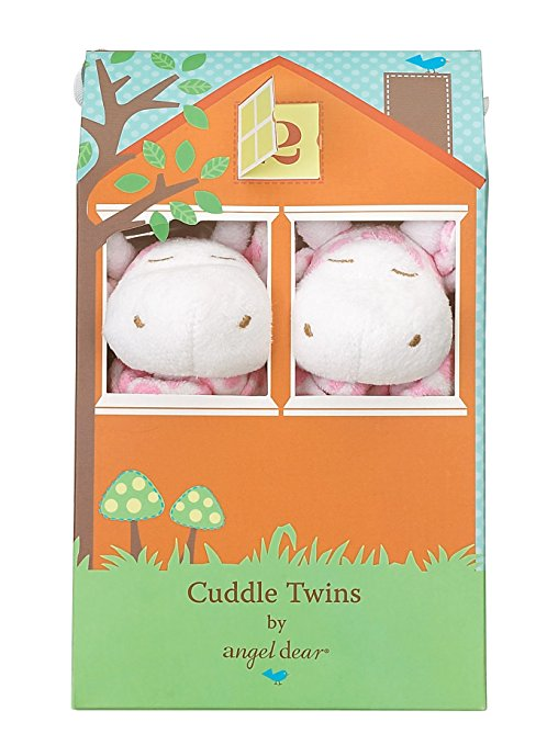 Cuddle Twins Pink Giraffe Blankies