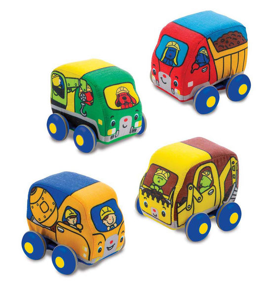 Melissa and Doug Pull Back Construction Vehicles Set