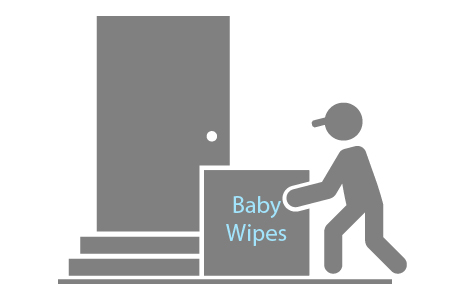 After the subscription is activated, recipients can order baby wipes that will be delivered to their home at no cost