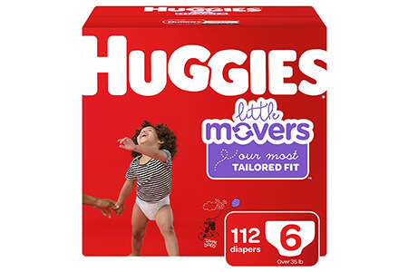 Huggies Little Movers Diapers, Size 6 (35+ lbs.), 112 ct.