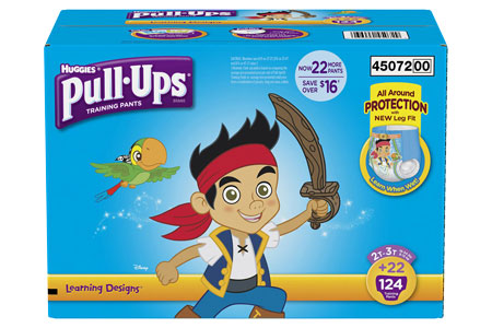 Huggies Pull-Ups Training Pants for Boys, Size 2T-3T (18-34 lbs.), 124 ct.