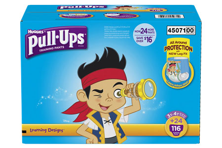 Huggies Pull-Ups Training Pants for Boys, Size 3T-4T (32-40 lbs.), 116 ct.
