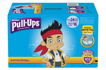 Huggies Pull-Ups Training Pants for Boys, Size 4T-5T (38+ lbs.), 102 ct.