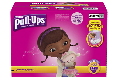 Huggies Pull-Ups Training Pants for Girls, Size 2T-3T (18-34 lbs.), 124 ct.