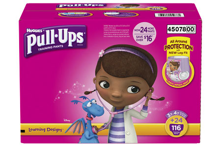Huggies Pull-Ups Training Pants for Girls, Size 3T-4T (32-40 lbs.), 116 ct.