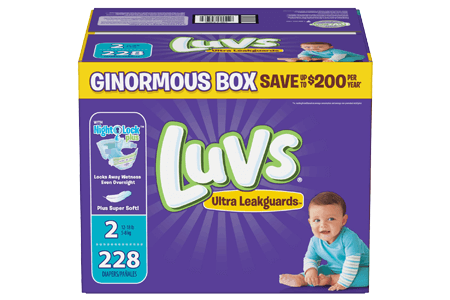 Luvs Ultra Leakguard Diapers, Size 2 (12-18 lbs.), 228 ct.