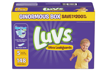 Luvs Ultra Leakguard Diapers, Size 5 (27+ lbs.), 148 ct.