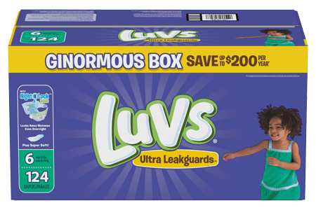 Luvs Ultra Leakguard Diapers, Size 6 (35 + lbs.), 124 ct.
