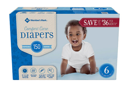 Member's Mark Comfort Care Baby Diapers, Size 6 (35+ lbs.), 150 ct.