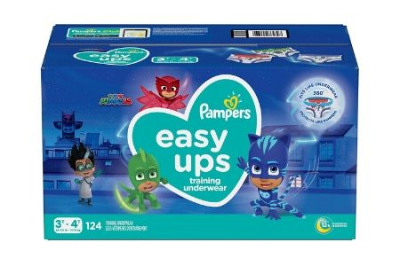 Pampers Easy Ups Training Underwear for Boys, 3T-4T (30-40 lbs.), 124 ct.