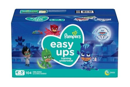 Pampers Easy Ups Training Underwear for Boys, 4T-5T (37+ lbs.), 104 ct.