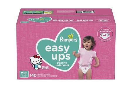 Pampers Easy Ups Training Underwear for Girls, 2T-3T (16-34 lbs.), 140 ct.
