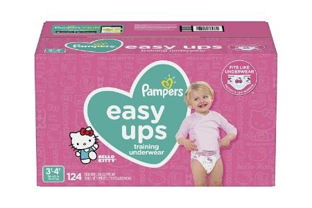 Pampers Easy Ups Training Underwear for Girls, 3T-4T (30-40 lbs.), 124 ct.