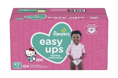 Pampers Easy Ups Training Underwear for Girls, 4T-5T (37+ lbs.), 104 ct.