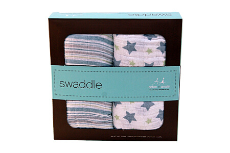 Aden & Anais 2pk Swaddling Blankets - Prince Charming Classic