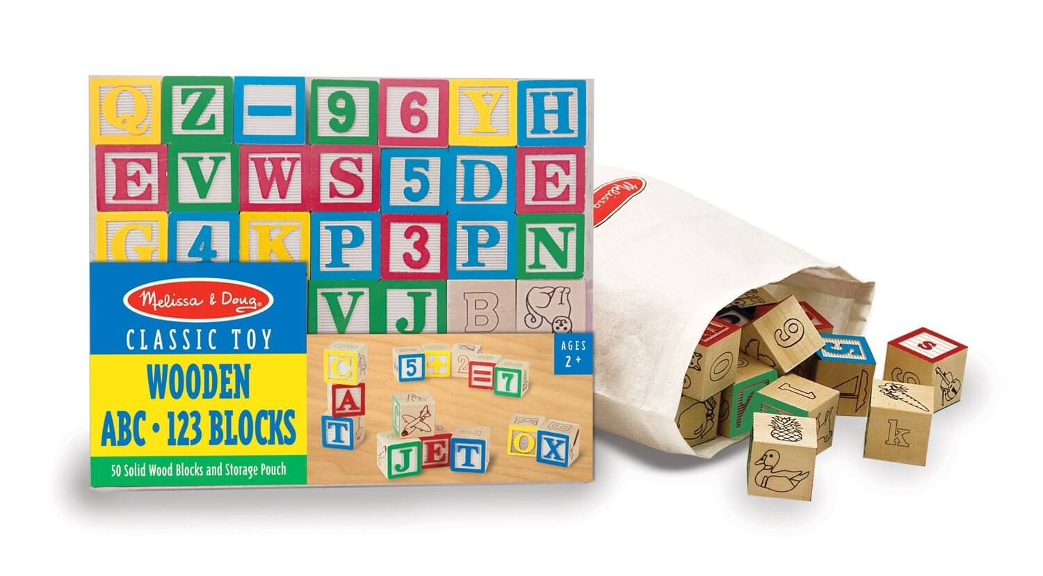 Melissa and Doug ABC/123 Wooden Blocks Set